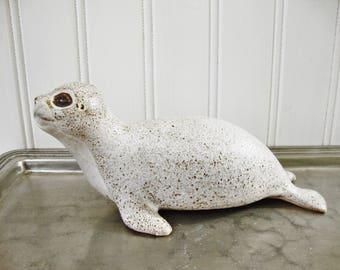 vintage seal andersen design pottery baby seal figurine sculpture