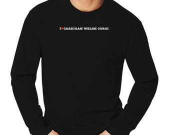 I Love Cardigan Welsh Corgi Long Sleeve T-Shirt