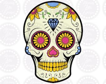 Sugar skull svg Day of the dead Skull svg Mexican skull svg Sugar skull mask Sugar skull png Dia de los muertos Sugar skull clipart