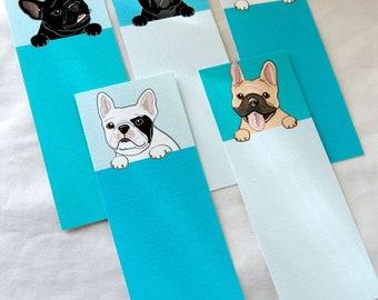 Frenchie Bookmarks - Eco-friendly Set of 5