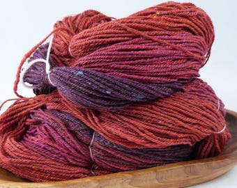 Handspun yarn - Sweltering Sari - 10 oucnes, 516 yards - Sport Weight
