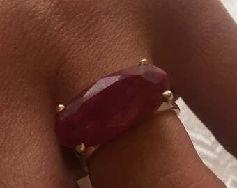Ruby natural, 925 silver sterling ring / size 54.5