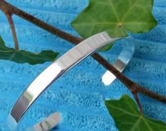 Silver cuff bracelet  | Contemporary minimalist design | Simple bangle bracelet