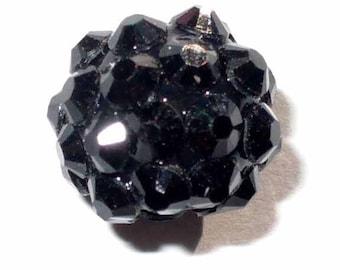 1 Pearl 12mm black AR272 black glittery resin