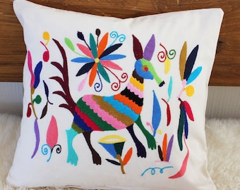 Sofa Pillow Animal Multicor Mexican embroidery 40 x 40 cm