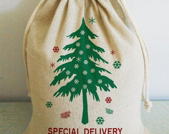 Personalized Christmas Stockings, Personalized Christmas Sack, Santa Sack, Christmas Stocking, Santa Bag, Christmas Bag, Christmas Tree
