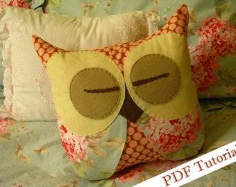Emily Sleep Tight Pillow Owl Tutorial PDF