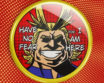 "All Might BNHA button | MHA 2.25"" Pinback Button 