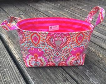 Tula Pink fabric basket / fabric storage bin /storage bin