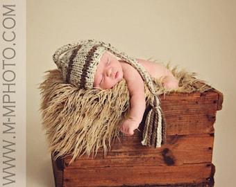 Newborn Boy Hat, Newborn Boy Photo Prop, Knit Baby Elf Hat, Baby Stocking Hat, Baby Boy Hat, Baby Hat, Knit Newborn Hat, Newborn Photography