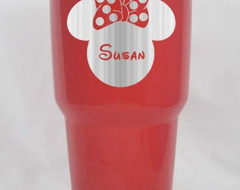 Minnie Mouse custom engraved Yeti personalized powder coated 20 30 oz your choice