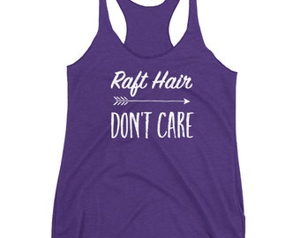 Raft Hair Don't Care Women's Racerback Tank