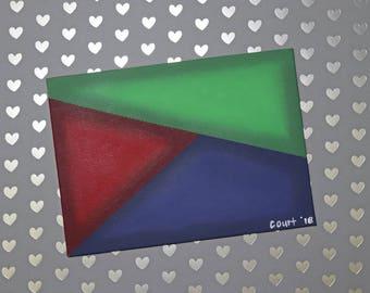 RGB Geometric Abstract Painting