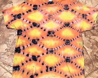 XL Tiger Stipes Tie Dye T-shirt