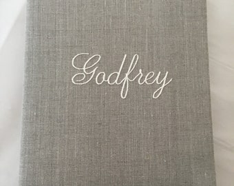 Keepsake Wedding Fabric Memory Book with Pages