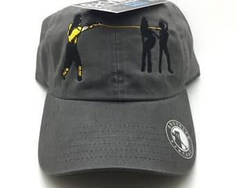 Gray Mortal Kombat Get Over Here Dad Cap Hat