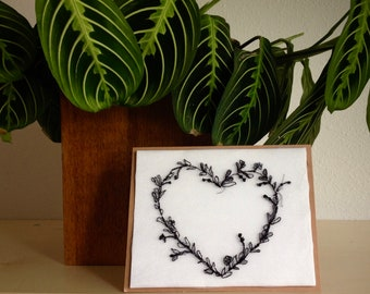 Art Cards---Stitched Heart