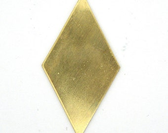4 Solid Brass Large Diamond Blanks SKU-BB-4