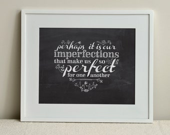 INSTANT DOWNLOAD / My Imperfect Heart / DIY Digital Print 8x10