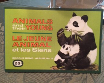 Animals and their Young Brooke Bond tea car Album