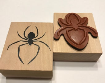 Large Spider Rubber Stamp, 1 3/4 inch (BB4/9)
