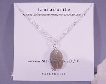 Labradorite star necklace