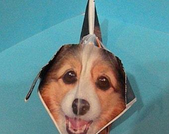 Origami collie puppy