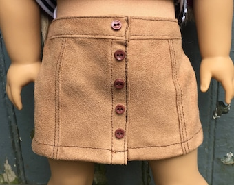 Fits American Girl doll:  faux suede mini skirt