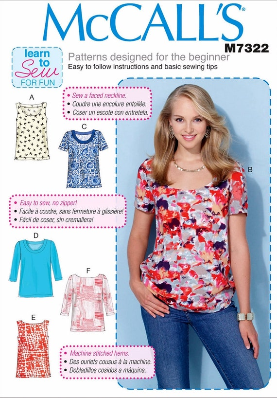 Pullover Top Pattern Easy Tops Pattern Learn to Sew a Top