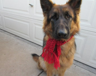 "Dog  Scarf  Chirstmas Red Size 1-1/2""x24"""