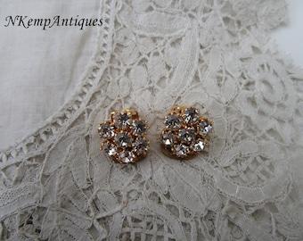 Diamante earrings clip ons