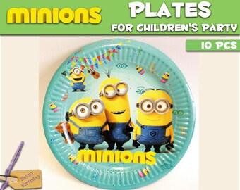 Minions Paper plates.  sc 1 st  Etsy & Minion theme party   Etsy