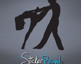 Vinyl Wall Art Decal Sticker Ballroom Dancer Dual 463
