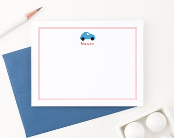 Personalized Stationery for boys // Thank you notes // Car Stationary // Choose your colors, KS029