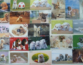 Dogs - Lot of Japanese Phone Cards With Dogs