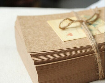 50 Sheets 15x10cm Blank Kraft Paper Card,Chipboard for DIY Scrapbooking, Invitation Card,Post Card, Paper work