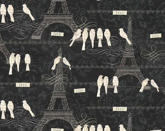 Love Paris from the French Couture line by David Textiles. 100% cotton quilt fabric.