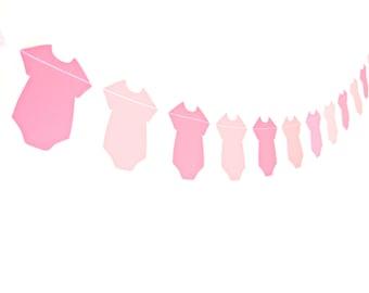 Pink Baby Girl Shower Banner - Baby Shower Garland , Baby Girl Garland, Baby Shower Banner, Girl Baby Shower Decor
