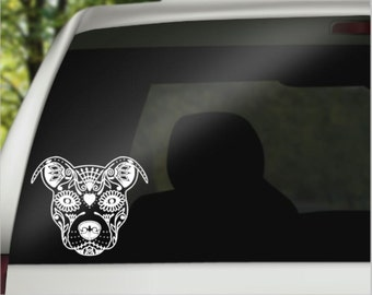 Pitbull Car Decal - Pitbull Decal - Car Decal - Pitbull Laptop Decal - Pitbull Dog Decal - Pitbull Lover Gifts