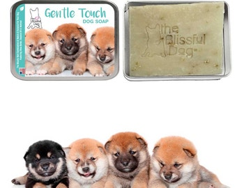 SHIBA INU Gentle Touch Dog Bar Soap All Natural Good Stuff Unscented for Puppies & Adult Dogs with Sensitive Skin Handcrafted in the USA