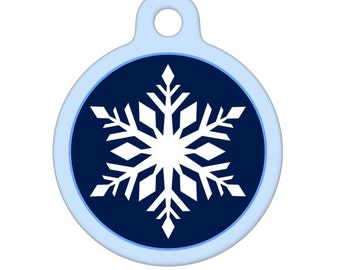 Pet ID Tag - Fancy Snowflake Pet Tag, Dog Tag, Cat Tag, Luggage Tag, Child ID Tag