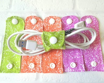 Cord Organizers - Cord Keeper - Cord Wraps - Cell Phone Cord Wraps - Cord Holder - Cord Ties - Cable Wraps  - Gadget Wraps - Gift Under 15