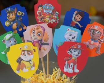 Paw Patrol Centerpieces - Paw Patrol Birthday Party - Paw Patrol Theme - Paw Patrol Decorations - Paw Patrol Party - Table Decor