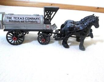 1991 ERTL Texaco Horse and Tanker Bank #8 NIOB ~ Texaco Collectibles ~ Gas Station Giveaway ~ Die Cast Coin Bank ~ Texaco Coin Bank