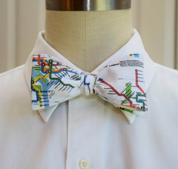 Mens Bow Tie in Washington DC Metro map design