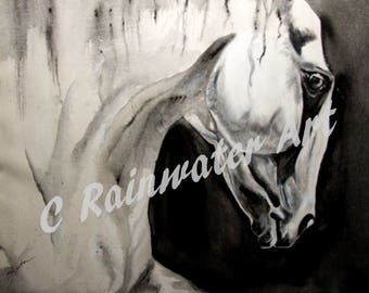 """Acryic painting By C Rainwater. """" Death Horse"""""""