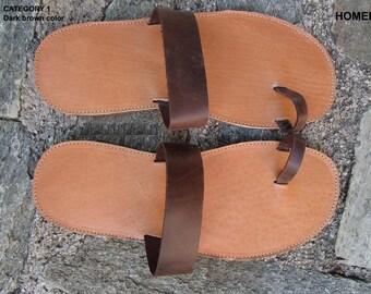 Mens Sandals, Handmade Sandals,Hermes Sandals, Leather Sandals, Greek Sandals,Men Leather Sandals,ARCHAIKO,Sandals For Men,HOMER