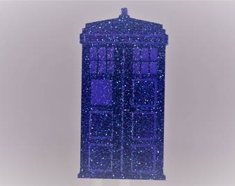Doctor Who Tardis glitter brooch