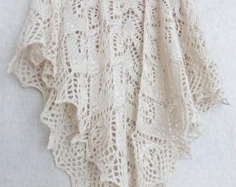 Wedding shawl Bridal white shawl Cashmere shawl Lace shawl Knitted shawl Hand knit shawl Lace knit scarf Bridal shawl Openwork Wrap Knitting