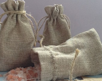 Healing pouch bath soak, contains mineral salts, aromatherapy essential oils, gem essence, reiki